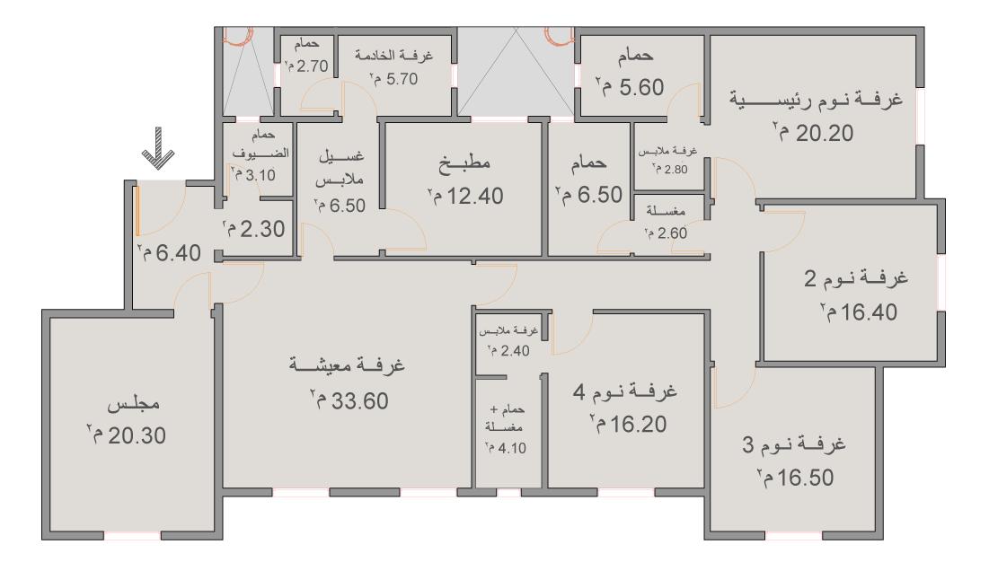 نماذج شقق المطورين العقاريين لإسكان جدة المطار   هوامير البورصة